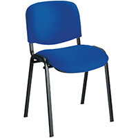 First Ultra Multi Purpose Stacking Chair Blue Fabric & Black Metal Frame KF98504