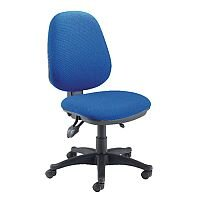 High Back Task Operator Office Chair With Height & Seat Angle Adjustment Blue