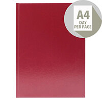 Desk Diary A4 Day Per Page Appointments 2020 Burgundy KFA41ABG20