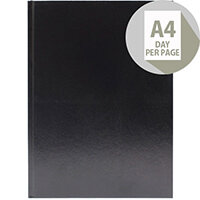 Desk Diary A4 Day Per Page Appointments 2020 Black KFA41ABK20