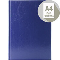 Desk Diary A4 Day Per Page Appointments 2020 Blue KFA41ABU20