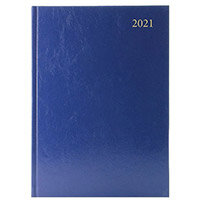 2021 A4 Desk Diary 2 Days Per Page Blue KFA42BU21