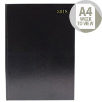 Desk Diary A4 Week To View 2018 Black KFA43BK18