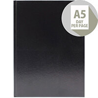 Desk Diary A5 Day Per Page 2020 Black KFA51BK20