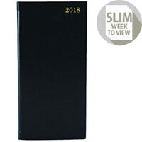 Slim Diary Week to View Appointment 2018 Landscape Black KFHBK18