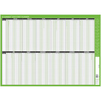 Q-Connect Staff Planner Mounted 855 x 610mm 2020 KFSPM20