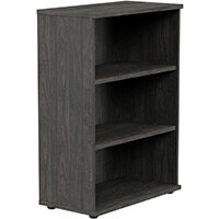 Medium Bookcase 1130mm High With Adjustable Shelves & Floor Leveller Feet Carbon Walnut Kito