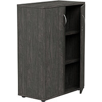 Medium Cupboard with Lockable Doors H1130mm Carbon Walnut Kito
