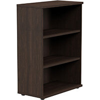 Medium Bookcase 1130mm High With Adjustable Shelves & Floor Leveller Feet Dark Walnut Kito