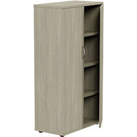 Medium Tall Cupboard with Adjustable Shelves and Floor-leveller Feet W800xD420xH1490mm Arctic Oak Kito