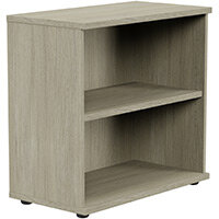 Kito Low Bookcase With Adjustable Shelves & Floor-leveller Feet W800xD420xH770mm Arctic Oak