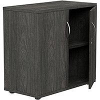 Low Cupboard with Lockable Doors W800xD420xH770mm Carbon Walnut Kito