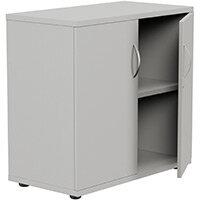 Low Cupboard with Lockable Doors W800xD420xH770mm Grey Kito