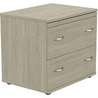 Kito 2 Drawer Side Filer Cabinet Arctic Oak
