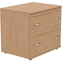 Kito 2 Drawer Side Filer Cabinet Beech