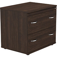 Kito 2 Drawer Side Filer Cabinet Dark Walnut