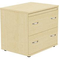 Kito 2 Drawer Side Filer Cabinet Maple