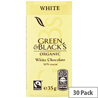 Green & Blacks 35g White Chocolate Pack of 30 611637