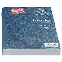 Challenge Invoice Book Without VAT/tax Duplicate Carbonless 210x130mm Pack 5
