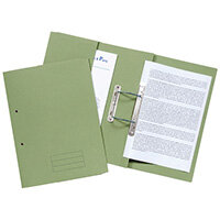 Pocket Spiral Files 285gsm Foolscap Green Pack of 25 TPFM-GRNZ
