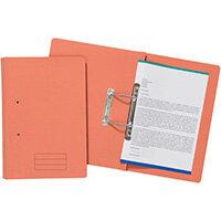 Spiral Files 285gsm Foolscap Orange Pack of 50 TFM50-ORGZ