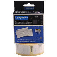 Compatible DYMO Return Address Label 54 x 25mm Pack of 500 LL87352