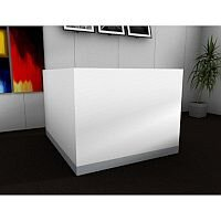 Organic Modern White Corner Reception Desk W1400mmxD1660mmxH1105mm