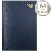 Letts 11Z A4 Day/Page Diary Blue 2018 18-T11ZBL