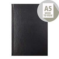 Letts 31X Black A5 Week to View Diary 2020 20-T31XBK