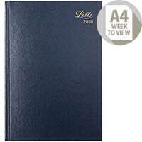 Letts 31Z A4 Week To View Diary Blue 2018 18-T31ZBL