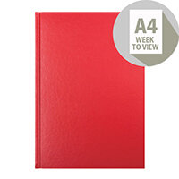 Letts 31Z Red A4 Week to View Diary 2020 20-T31ZRD