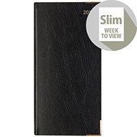 Letts 35SU Business Slim Week to View Appointment Portrait Diary Black 2020 20-T35SUBK