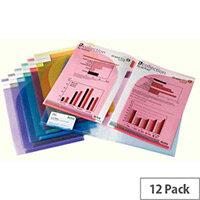 Tarifold A4 Presentation Folder Assorted Pack of 12 TAE511009