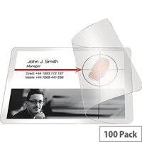 Pelltech Self Laminating Pouch Card 66x100mm Pack of 100
