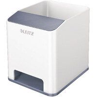 Leitz WOW Sound Booster Pen Holder White/Grey 53631001