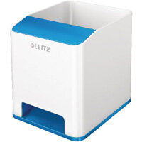Leitz WOW Sound Booster Pen Holder White/Blue 53631036