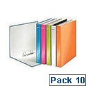 Leitz Wow A4+ 2D-Ring Binder 25mm Assorted Pack of 10 42410099