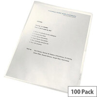 Leitz ReCycle Cut Flush Folders Clear 100pk