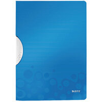 Leitz WOW A4 ColorClip Polypropylene File Blue Metallic Pack of 10 41850036