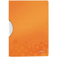 Leitz WOW A4 ColorClip Polypropylene File Orange Metallic Pack of 10 41850044