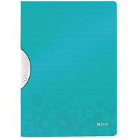 Leitz WOW A4 ColorClip Polypropylene File Ice Blue Pack of 10 41850051