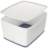Leitz MyBox Large Storage Box With Lid White/Grey 52161001