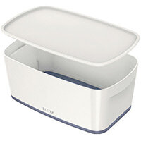 Leitz MyBox Small Storage Box With Lid White/Grey 52291001