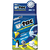 Ultraloc U-Tac Re-Usable Adhesive Putty White Pack of 12 SUUT12