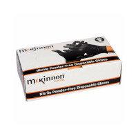 McKinnon Black Nitrile LARGE Disposable Gloves Case of 10 (1000) MB100LC