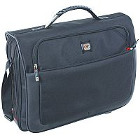 "Gino Ferrari Titan 17"" Laptop Messenger Bag Black"