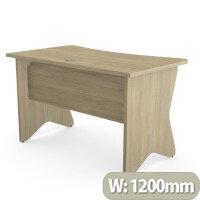 Home Office Medici Desk W1200xD700mm 25mm Desktop & Legs Urban Oak