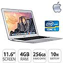 "Apple MacBook Air Notebook 11.6"" Core i5 4GB 256GB Flash"
