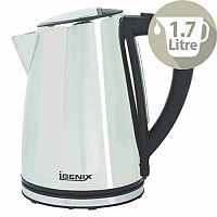 Igenix Electric Kettle Stainless Steel Cordless Capacity 1.7 Litres