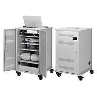 Nobo Multi-Media Cabinet Grey/Silver